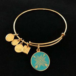 Alex and Ani Gold Bond Direction Union Bracelet